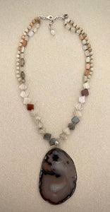 Stonned Labradorite necklace
