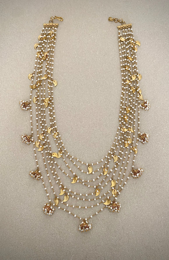 STONNED MULTISTRAND PEARL NECKLACE