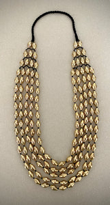 Dholki Beads five strand gold