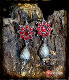 Sheesha Earring Red Floral