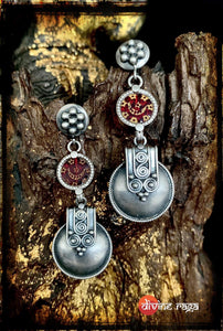 Sheesha Earring Red Ethnic