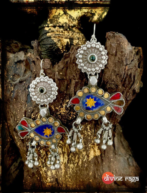 Sheesha Earring Antique Birds