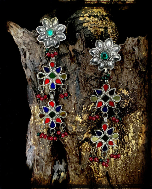 Sheesha Earrings Multi Floral