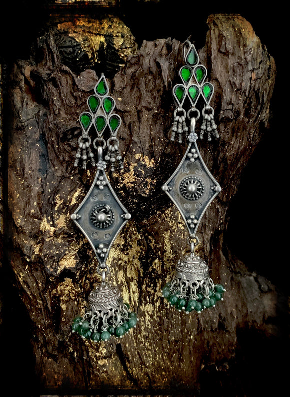 Sheesha Earring Green Jhumkie