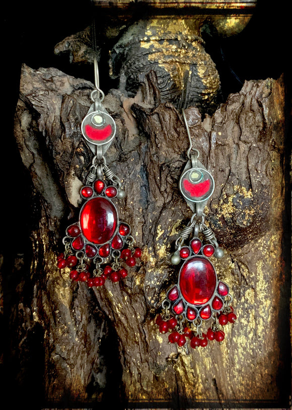 Sheesha earring Red Big Drops