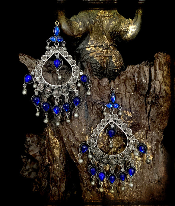Sheesha Earring Blue Tear drop