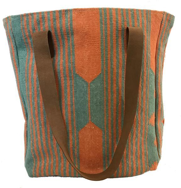 VIA - Bucket Tote Aqua/Orange - $148