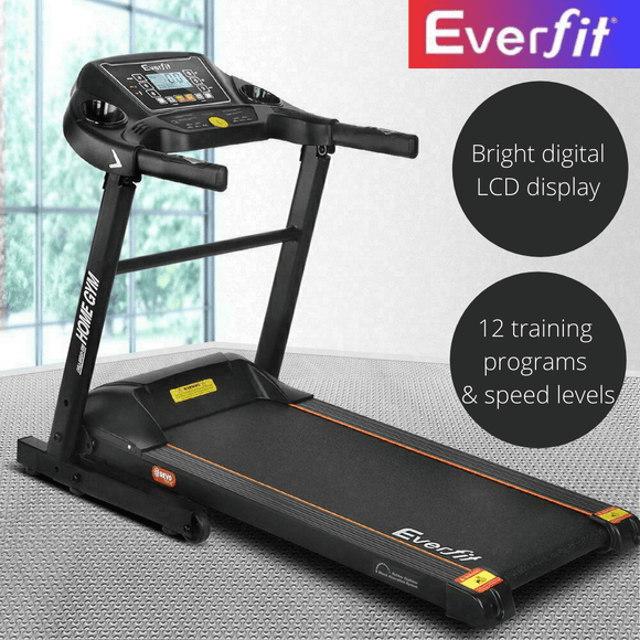 Everfit Electric Treadmill 40cm Running Home Gym Fitness Machine Black TMILL-MIG41-SIM