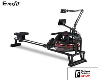Water Rowing Machine Home Gym Equipment-Everfit