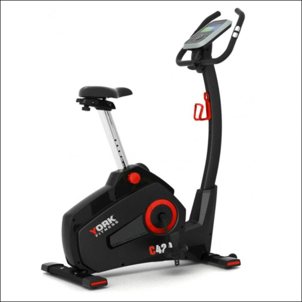 The YORK C420 Exercise Bike is the pinnacle of quality and performance with a touch of class. Its ergonomic design will be sure to impress as well, as a benefit for all users whether completing a long distance session or short intervals during your busy schedule.