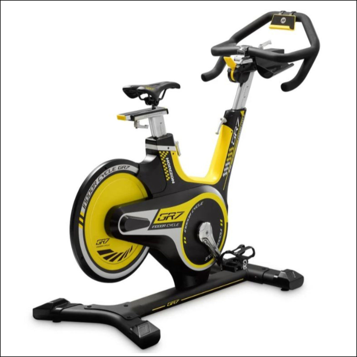 Spin Bikes Australia Directory listing HORIZON GR7 SPIN BIKE New to the Horizon family, the GR Series is set to change home fitness forever with a design that brings the feel of real road cycling right into your home.Inspired by the design of Tour de France cycles, everything from the perfected geometry of our frame to the ergonomically adjustable, highly