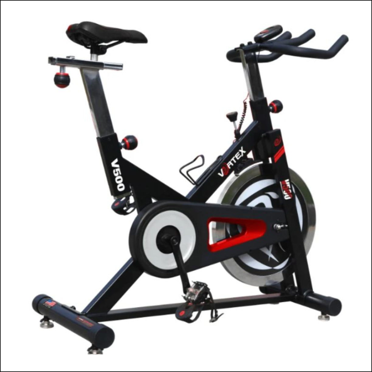The Vortex V500 Spin Bike has been designed in the USA for anyone seeking a performance, quality spin bike to train confidently in the privacy of your own home.