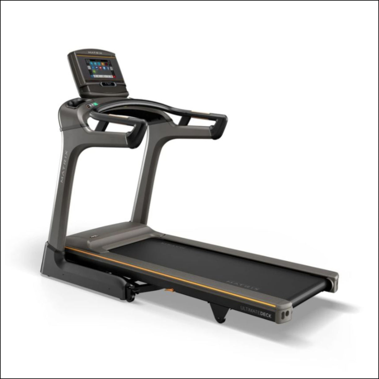 MATRIX TF30 XER Treadmill Experience a natural, powerful run with the industry's most advanced frame and deck combination. Our TF30 Treadmill includes a folding design, plus our exclusive Johnson Drive System and Ultimate Deck System.