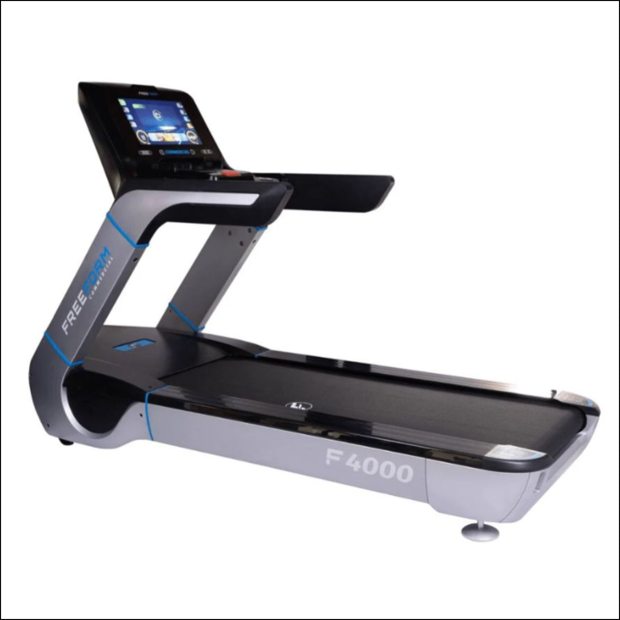 Experience one of the most aesthetically pleasing treadmills on the market. The Freeform Commercial F4000 Treadmill is designed for those looking for an easy-to-maintain, high-end, durable treadmill. Engineered for safety, the F4000 comes stacked with features including an industry-leading powerful 8.0 continuous horsepower motor and engaging 18.5