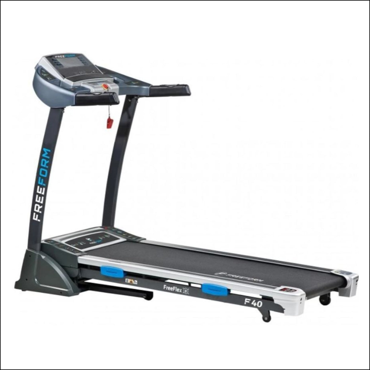 Make home workouts more convenient with the help of Freeform F40 Treadmill. Quickly and easily select any speed from 1km/hr to a 16km/hr with a single button press on the OneTouch Quick Speed Controls powered by the HiTorque 2.25 Continuous Horse Power Commercial Motor. Other features include FreeFlex precision cushioning for ultimate comfort and simple foldaway design.