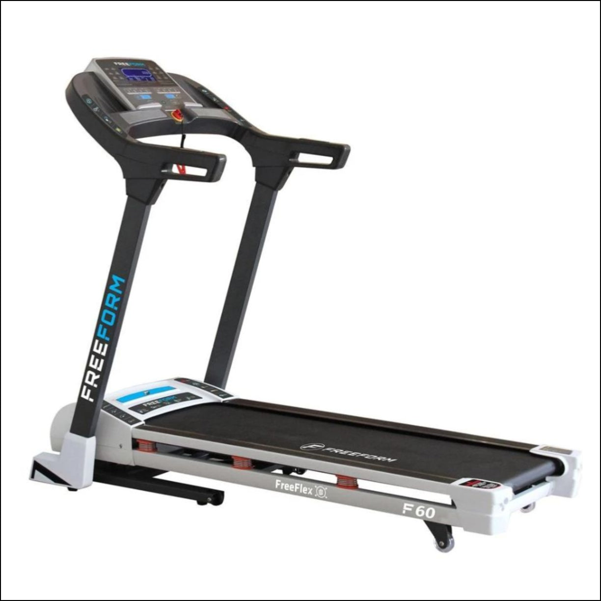 The FreeForm F60 Pro Runner Treadmill has all the traditional treadmill features and is loaded with modern extras! An excellent choice for those looking for a hassle-free, durable, home treadmill! Take your fitness to the next level with the 2.5 Continuous Horse Power HiTorque Commercial Motor and range of preset programs along with a top speed of 18/km/hr.