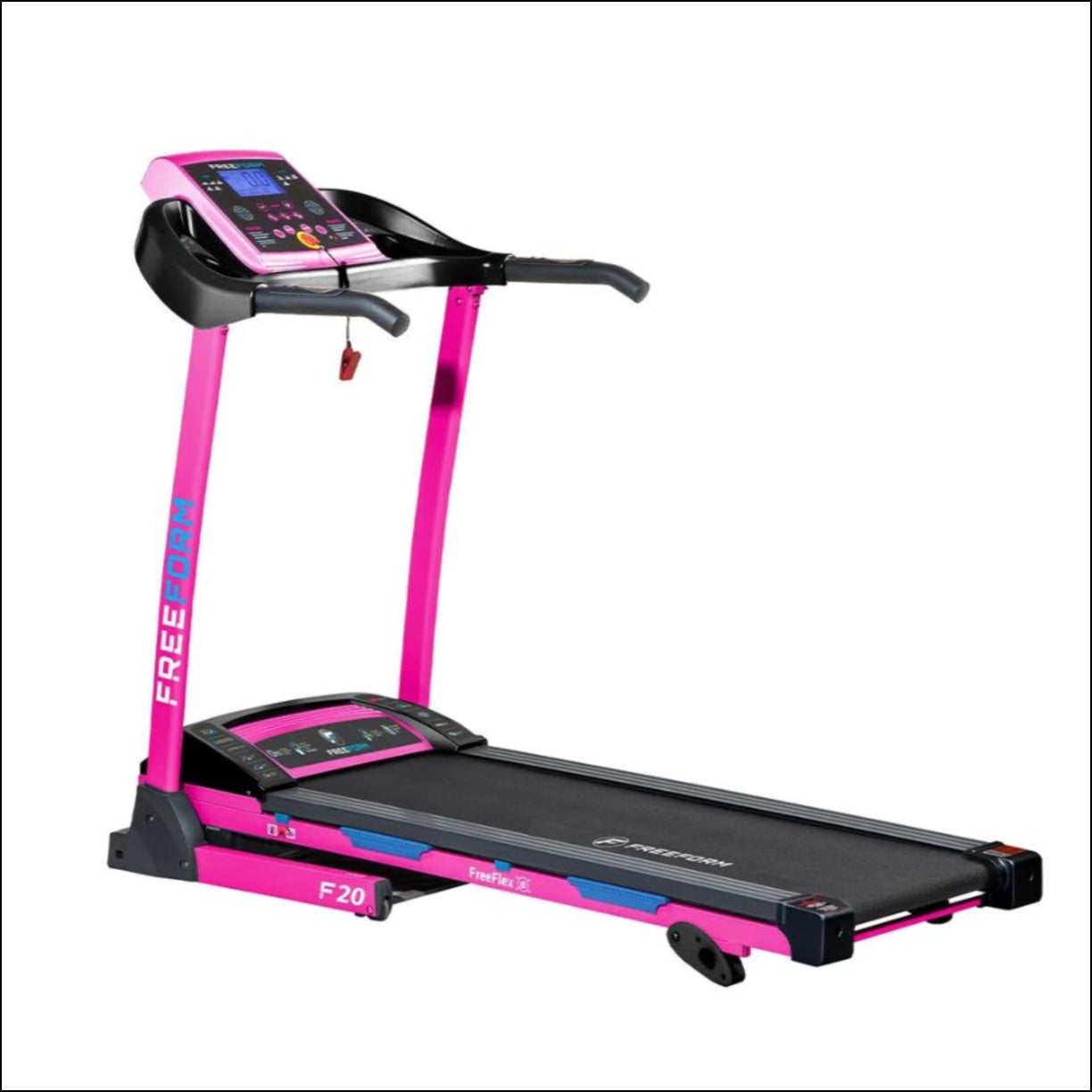 Designed to help you achieve your fitness goals in the comfort of your home! The Freeform F20 Treadmill has 9 preset programs and 3 manually adjustable incline options so you can tone your figure and work on your overall fitness. Other features include FreeFlex precision cushioning for ultimate comfort and simple foldaway design.