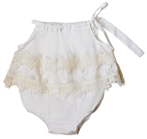 Bubble Romper - Lace - Ivory