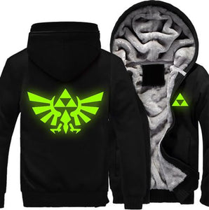 USA size Men Women The Legend of Zelda luminous Jacket Sweatshirts Thicken Hoodie Coat Clothing Casual
