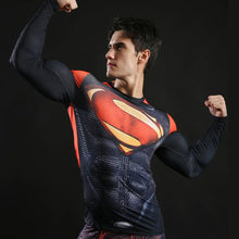Superman Long Sleeve Fitness Top