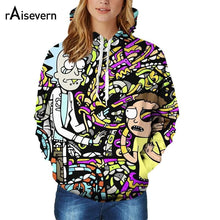 Raisevern Cartoon Rick and Morty Print 3D Hoodie Women Hooded Outfits Tops 3D Graphic Pullover Sweatshirt Plus Size Dropship - Geek gizmos