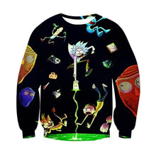 Rick And Morty 3D Sweatshirt Men Women 2017 Long Sleeve Autumn Winter Funny Cartoon Anime Pullovers Sweatshirts Dropship