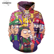 Rick and Morty Mario bros' hoodie - Geek gizmos
