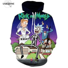 New Fashion Rick and Morty Hoodies Men Women 3D Sweatshirts Hoodie With Cap Casual Brand Pullovers Tracksuit Dropship