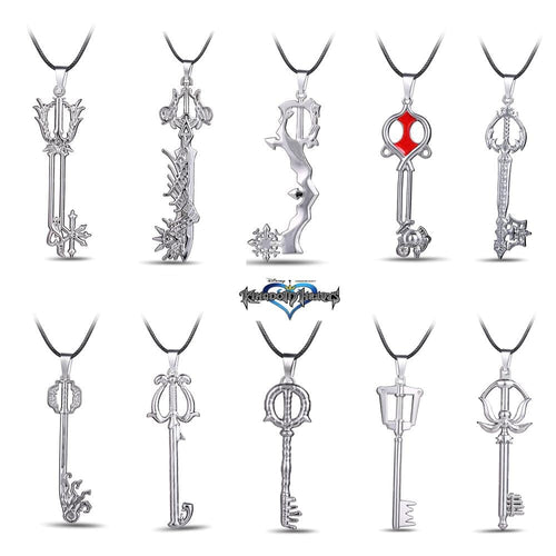 Kingdom Hearts Metal Necklace Keyblade Pendant Cosplay Accessories Jewelry