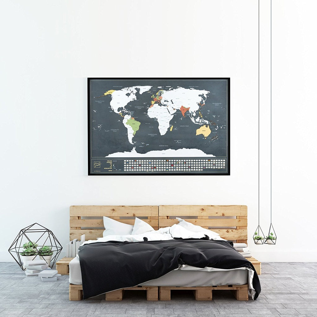 Enno vatti scratch off world map with flags silver ennovatti scratch off world map with bonus a4 uk map silver gumiabroncs Choice Image