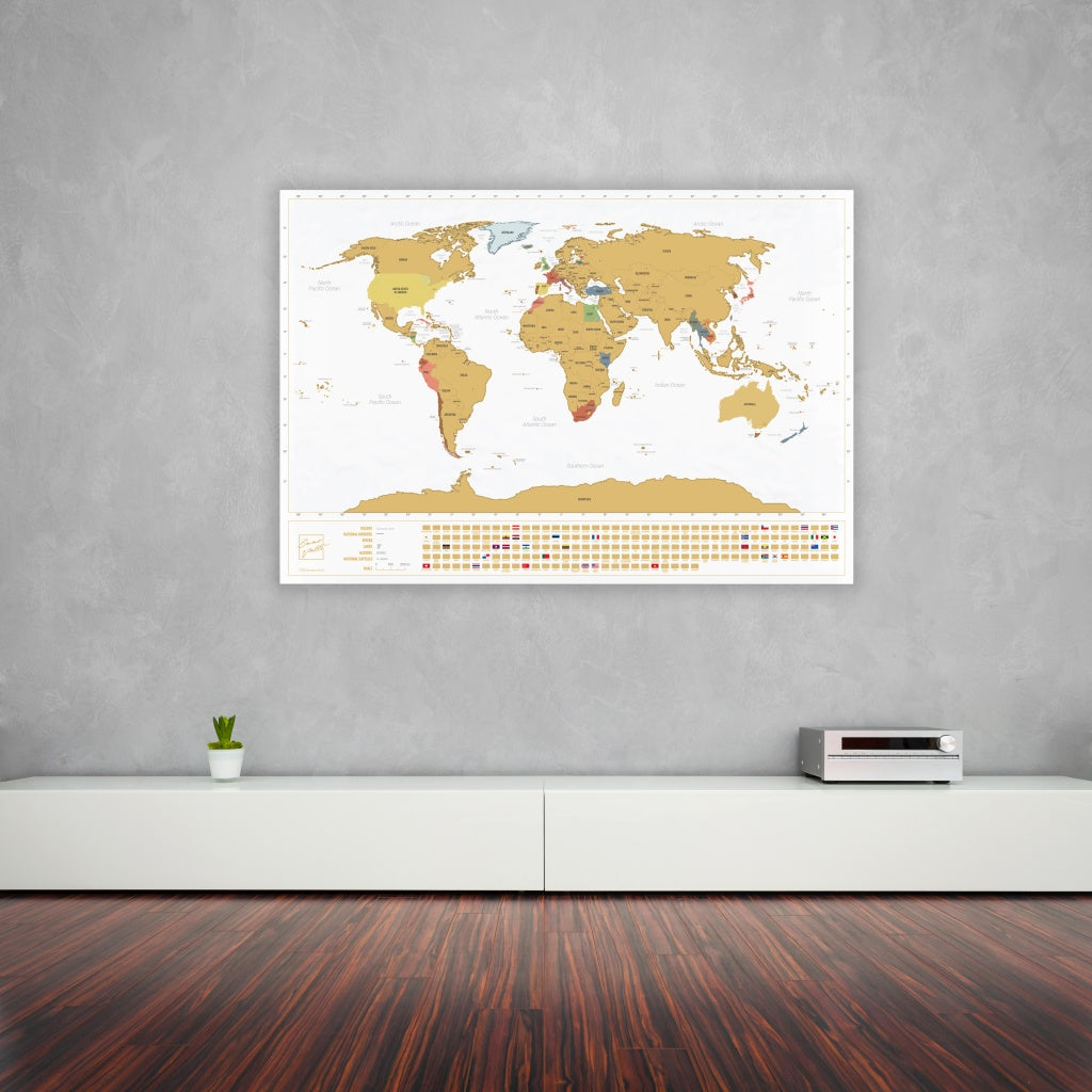 Enno vatti scratch off world map with flags white ennovatti scratch off world map with bonus a4 uk map original publicscrutiny Image collections
