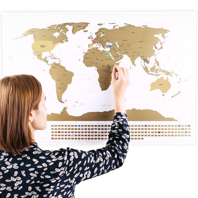 Enno vatti scratch off world map with flags white ennovatti scratch off world map with bonus a4 uk map original publicscrutiny Gallery