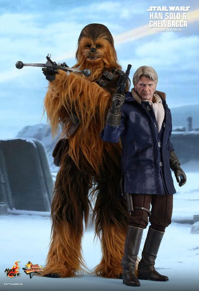 Han Solo & Chewbacca, Star Wars: The Force Awakens 1/6th Scale Collectible Figure Set, Hot Toys MMS 376