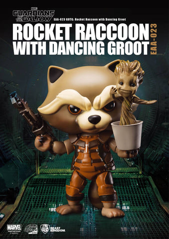 Rocket Raccoon & Dancing Groot, Egg Attack Action EAA-023 Action Figure, Guardians of the Galaxy
