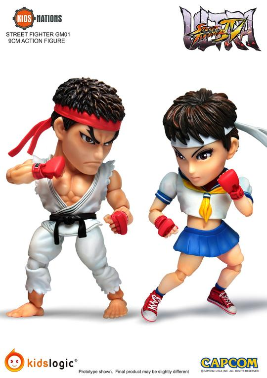 Ryu vs Sakura, Ultra Street Fighter IV Kids Nations GM-01 Action Figure Set - 2 Pack