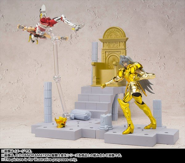 Saint Cloth Myth, D.D.Panoramation Gemini Saga with Bonus Statue Athena