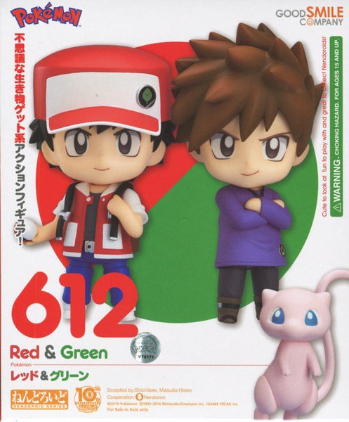 Nendoroid 612 Pokémon Trainer Red & Green