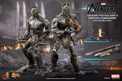 Chitauri Footsoldier And Chitauri Commander, The Avengers 1/6th Collectible Figures Set, Hot Toys MMS 228
