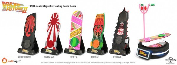 1/6 Magnetic Floating Hover Board, Back To The Future Part II, Set of 5