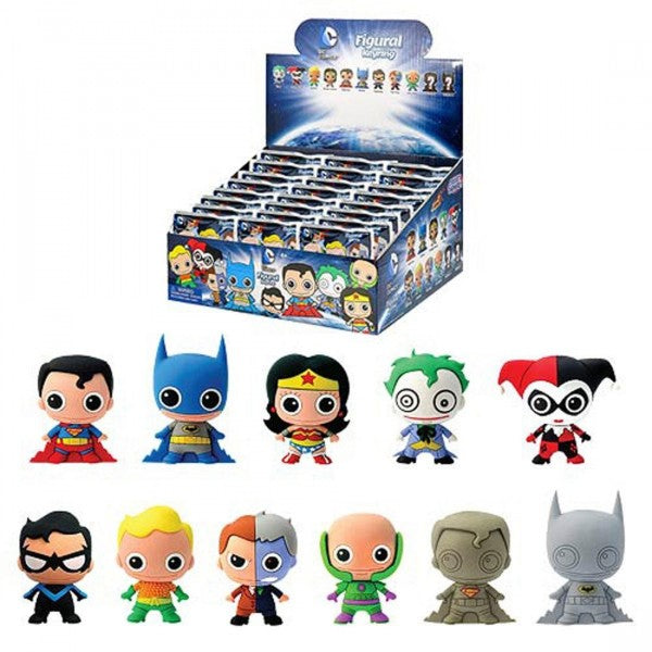 DC Comics Series 1, 3D PVC Foam Collectible Key Ring