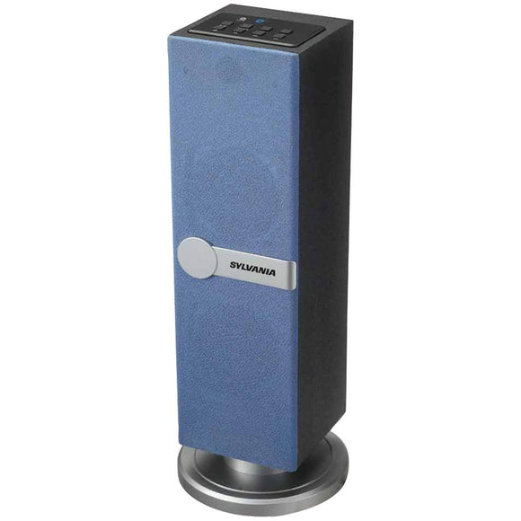 SYLVANIA(R) SP269-BLUE Bluetooth(R) Tabletop Tower Speaker (Blue)