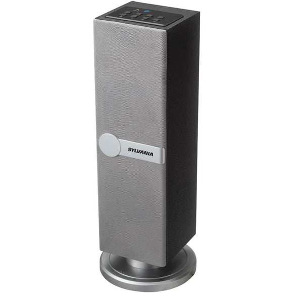 SYLVANIA(R) SP269 SILVER Bluetooth(R) Mini Tower Speaker (Silver)