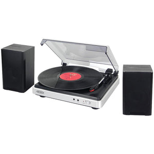 JENSEN(R) JTA-325 3-Speed Turntable with Stereo Speakers