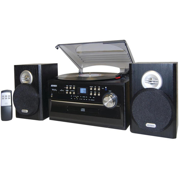 JENSEN(R) JTA-475 3-Speed Turntable with CD, Cassette & AM/FM Stereo Radio