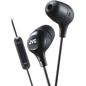 JVC(R) HAFX38MB Marshmallow(R) Inner-Ear Headphones with Microphone (Black)