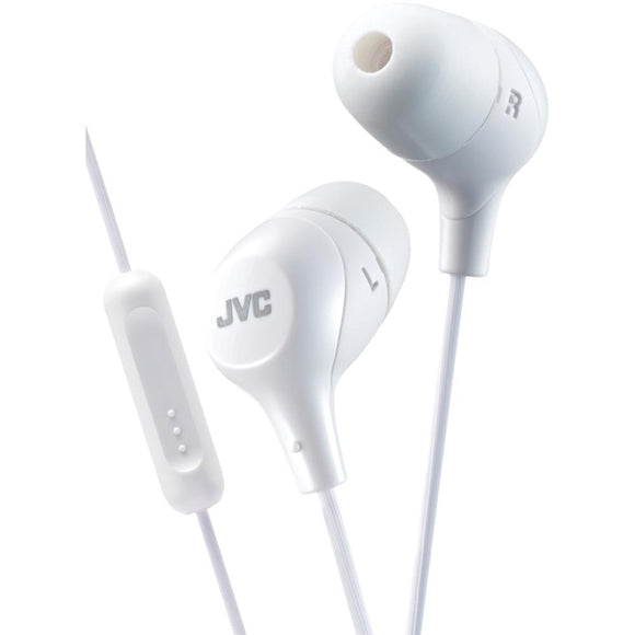 JVC(R) HAFX38MW Marshmallow(R) Inner-Ear Headphones with Microphone (Yellow)