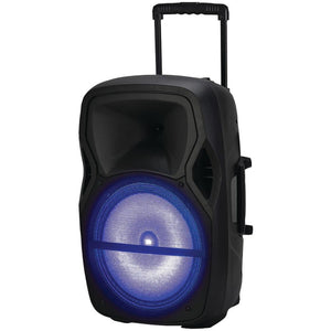 "Naxa(R) NDS-1503 Portable Bluetooth(R) DJ/PA Speaker (15"", 1800W peak power)"