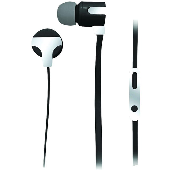 Naxa(R) NE-939 SILVER ASTRA Isolation Stereo Earphones with Microphone (Silver)