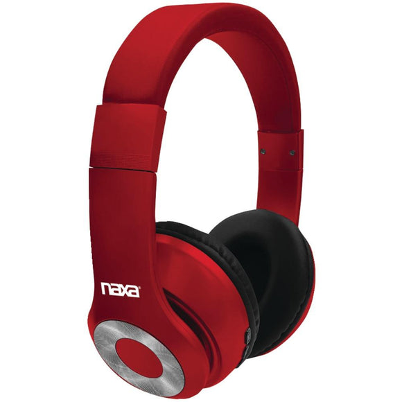 Naxa(R) NE-965 RED BACKSPIN Bluetooth(R) Headphones (Red)