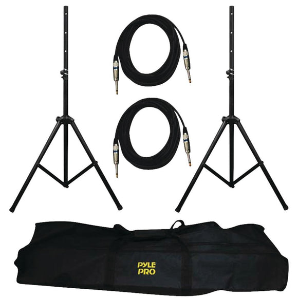 Pyle Pro(R) PMDK102 Heavy-Duty Pro Audio Speaker Stand & 1/4'' Cable Kit